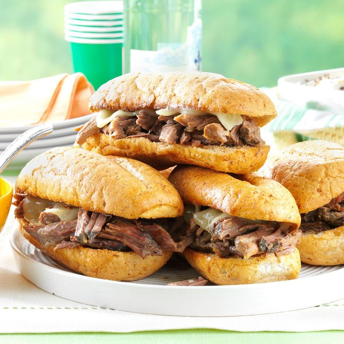 Day 24: Slow Cooker French Dip Sandwiches