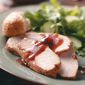 Slow Cooker Turkey with Cranberry Sauce