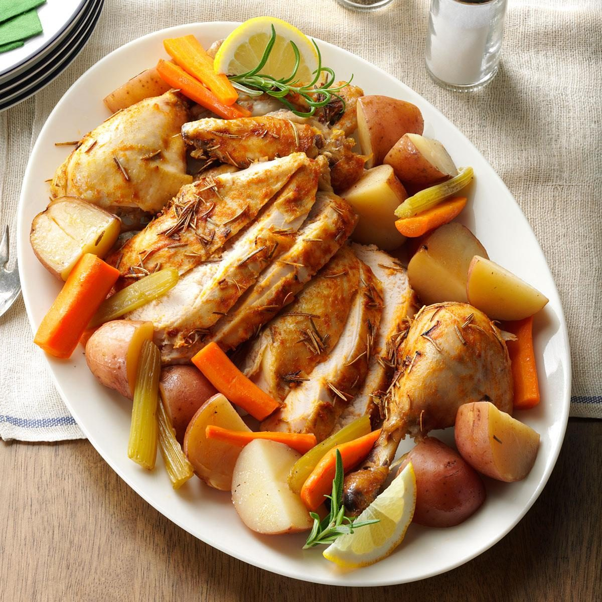Day 20: Slow-Roasted Chicken with Vegetables