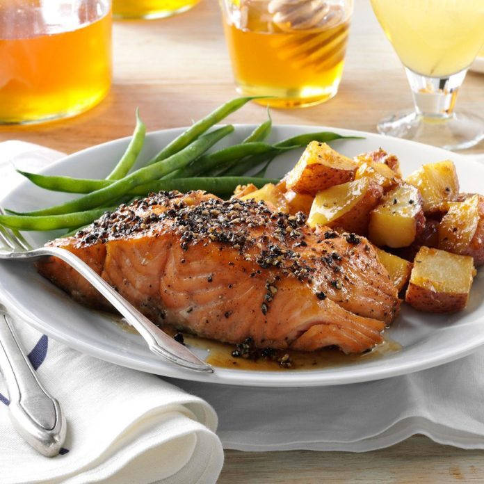 Smoked Honey-Peppercorn Salmon
