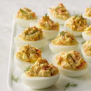 Smoked Salmon & Dill Deviled Eggs