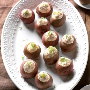 Smoked Salmon New Potatoes