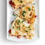 Smoked Salmon Quesadillas with Creamy Chipotle Sauce