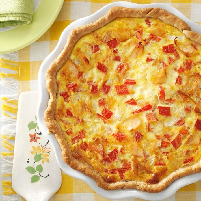 Alaska: Smoked Salmon Quiche