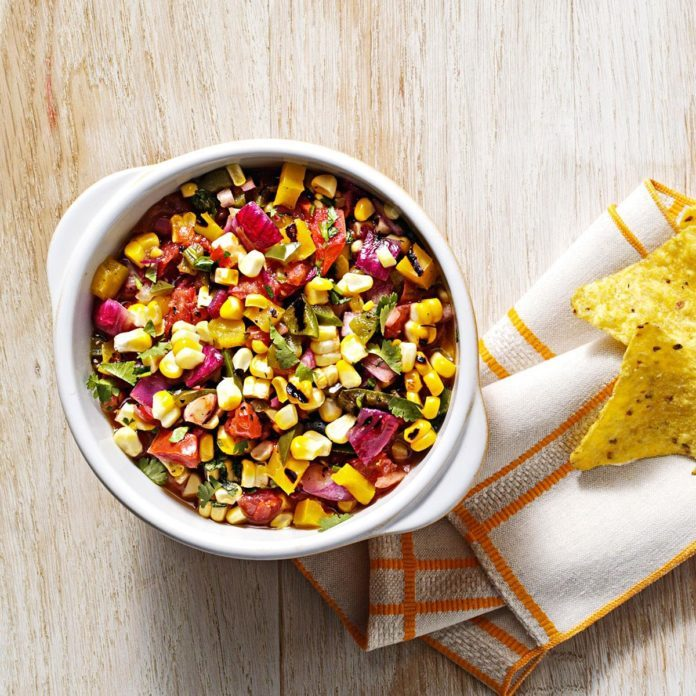 Smoky Grilled Corn Salsa