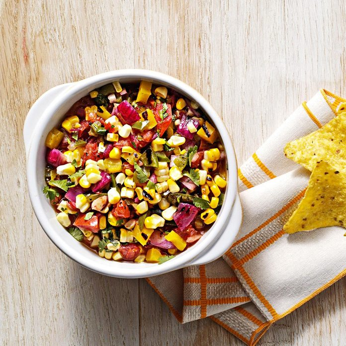Inspired by: Chipotle's Roasted Chili-Corn Salsa