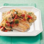 Snapper with Zucchini & Mushrooms