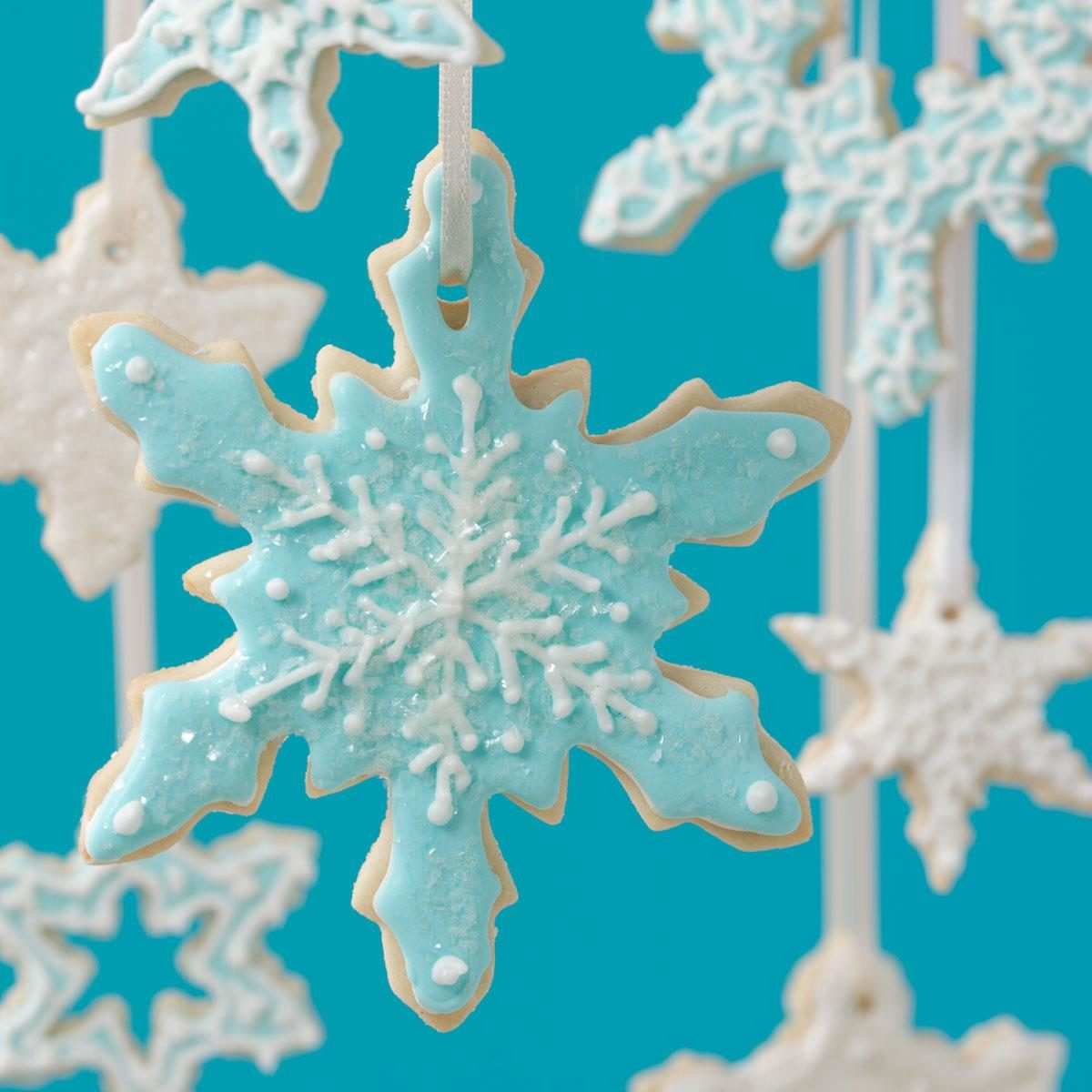 Snowflake Cookie Ornaments
