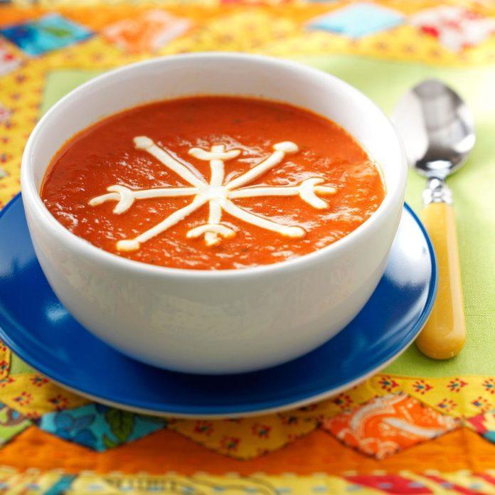Snowflake Tomato Soup