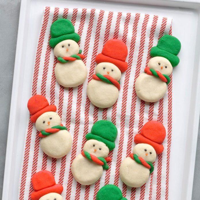 Snowmen Butter Cookies
