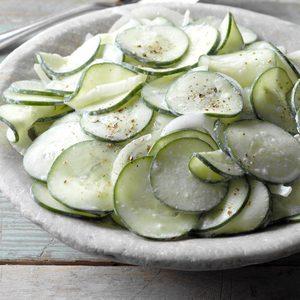 Sour Cream Cucumbers