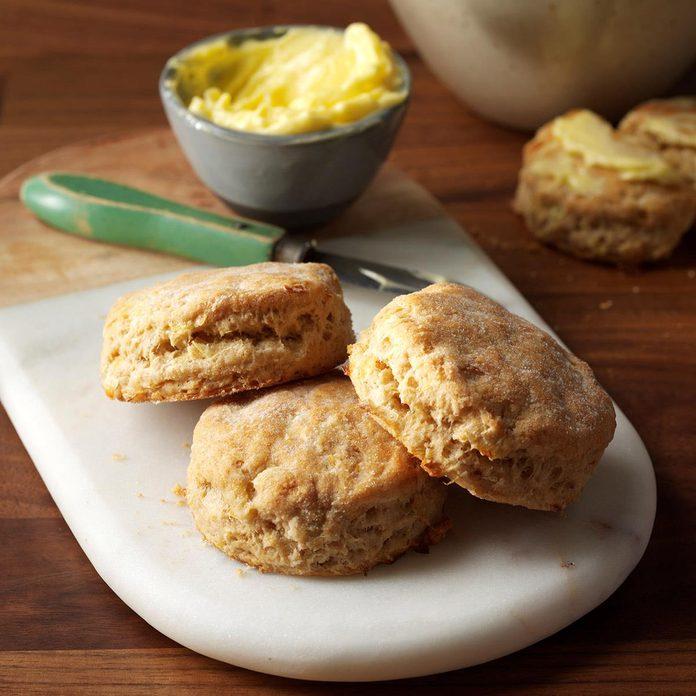 Sour Cream-Leek Biscuits