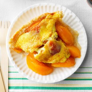 Sour Cream Peach Kuchen