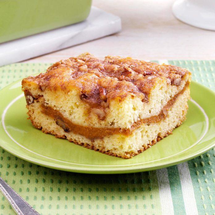 Sour Cream-Pumpkin Coffee Cake