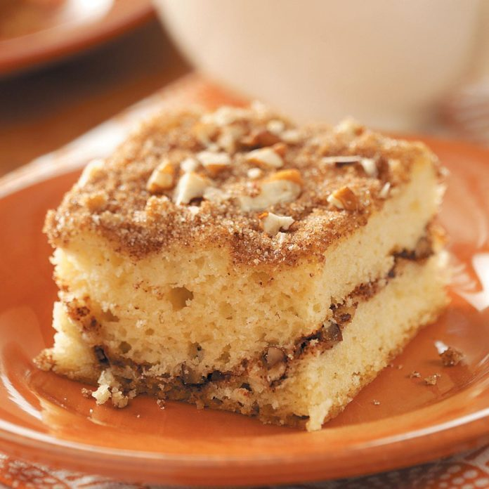 Sour Cream Streusel Coffee Cake Recipe Taste Of Home