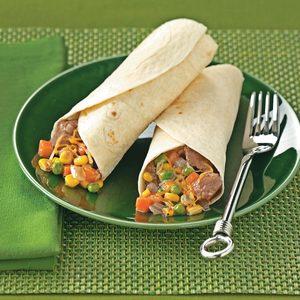 Southwest Beef Burritos