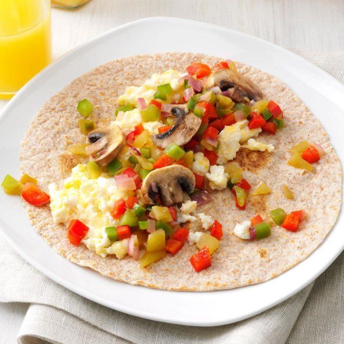 Day 2 Breakfast: Southwest Breakfast Wraps