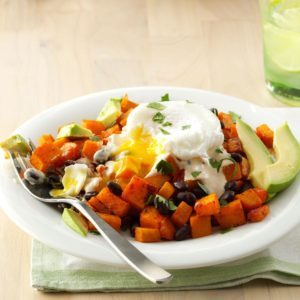 Southwest Hash with Adobo-Lime Crema