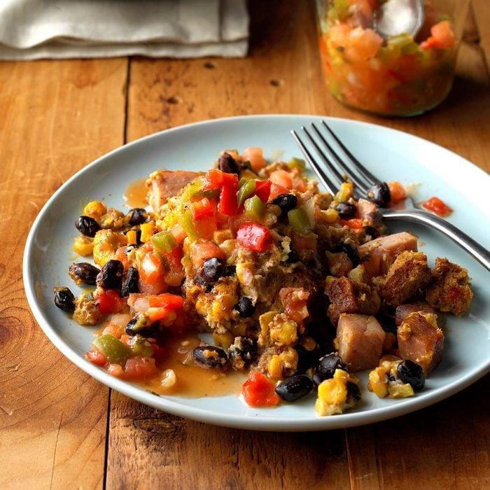 Southwestern Breakfast Slow Cooker Casserole