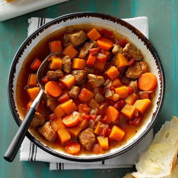 Southwestern Pork and Squash Soup