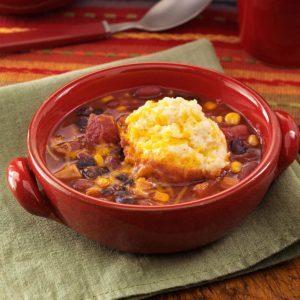 Southwestern Turkey Dumpling Soup