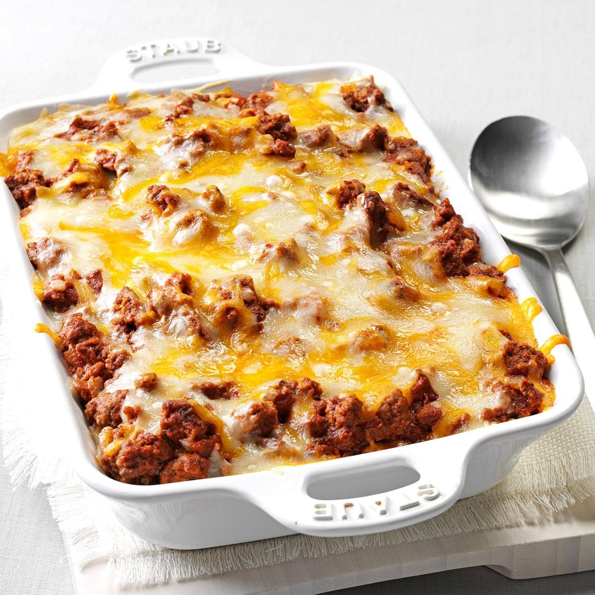 spaghetti pie casserole recipe taste of home
