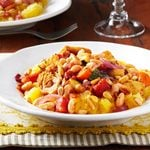 Spaghetti Squash with Balsamic Vegetables and Toasted Pine Nuts