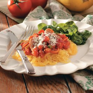 Spaghetti Squash with Red Sauce