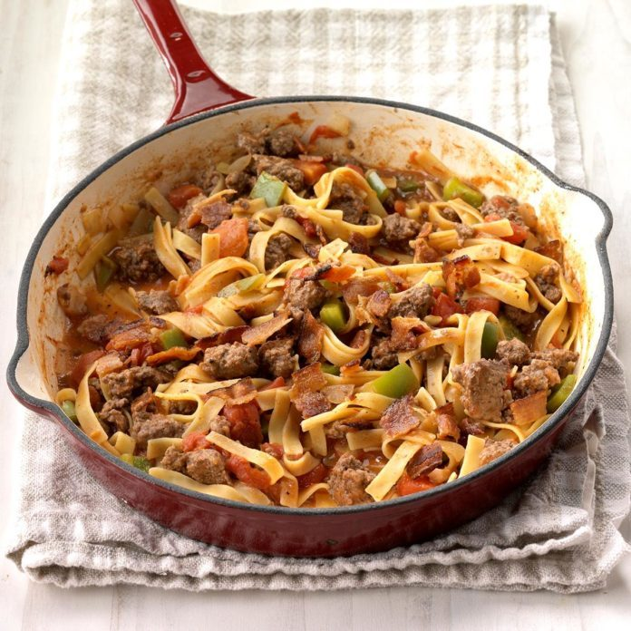 Spanish Noodles and Ground Beef