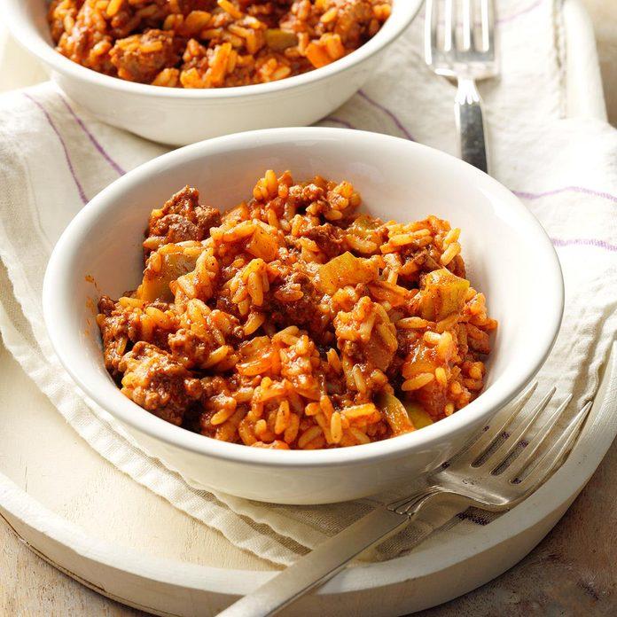 Spanish Rice with Ground Beef