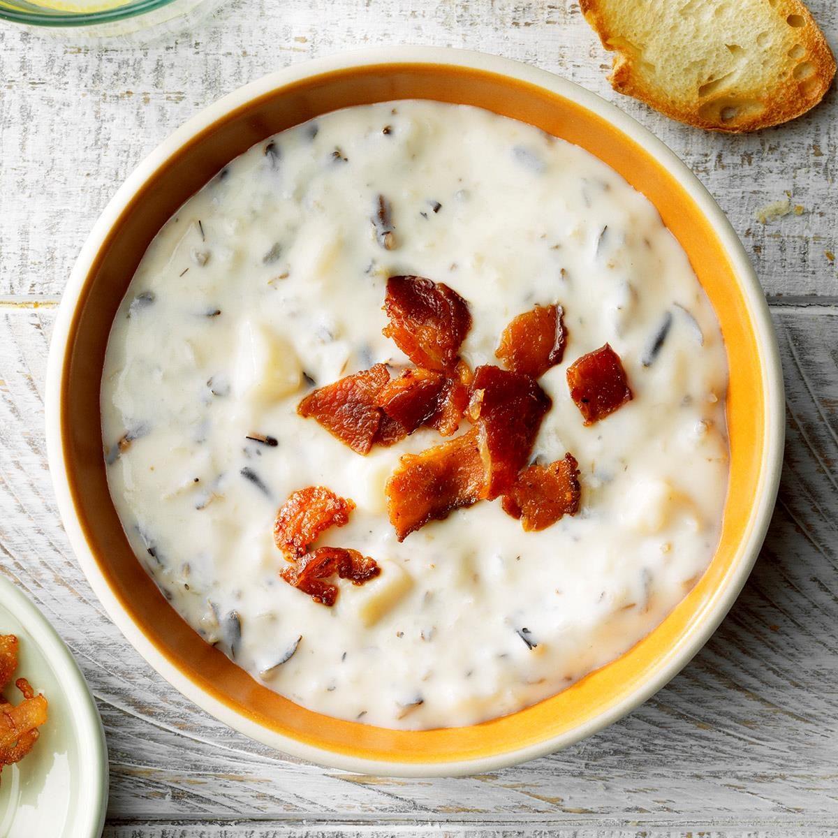 Minnesota: Speedy Cream of Wild Rice Soup