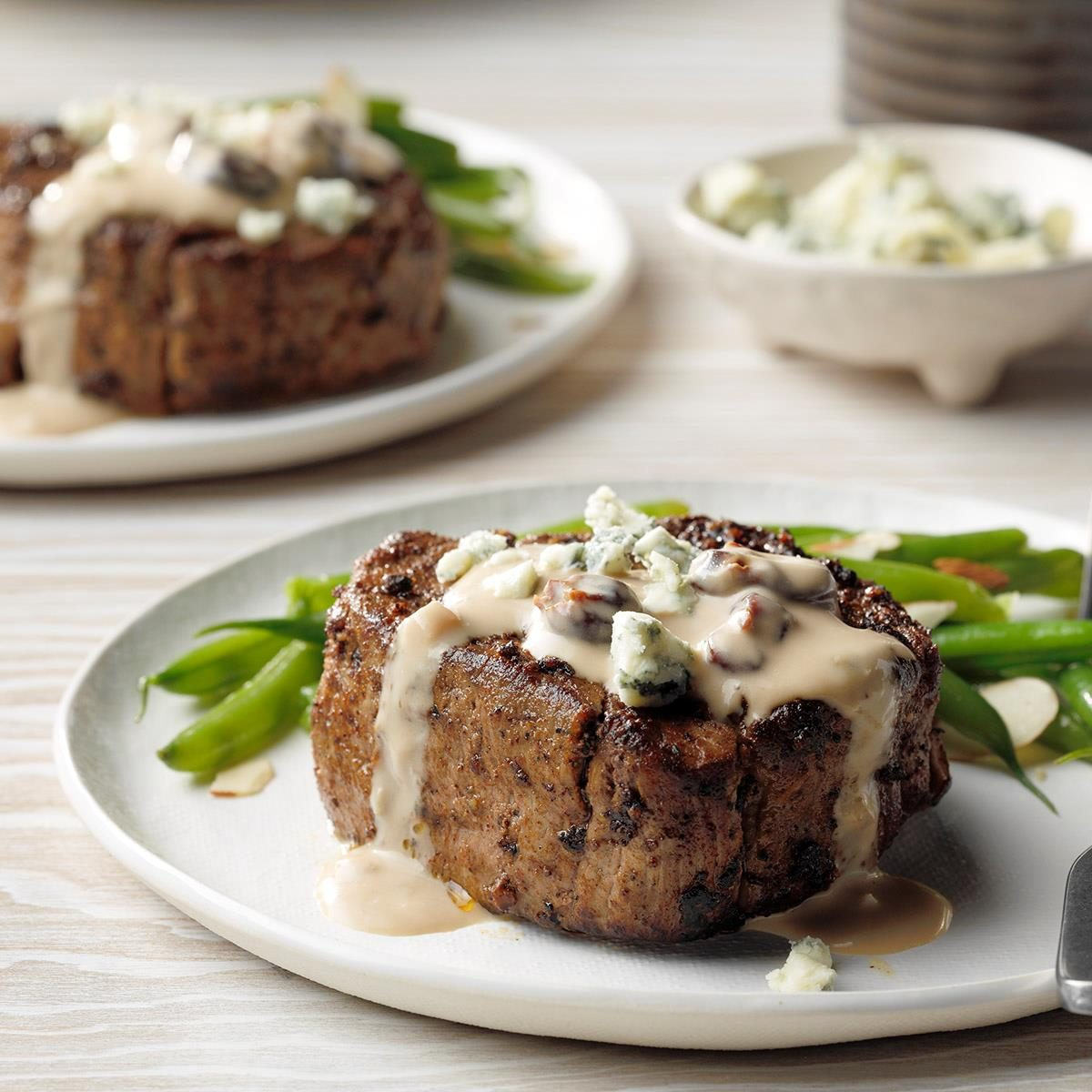 Spice-Crusted Steaks with Cherry Sauce