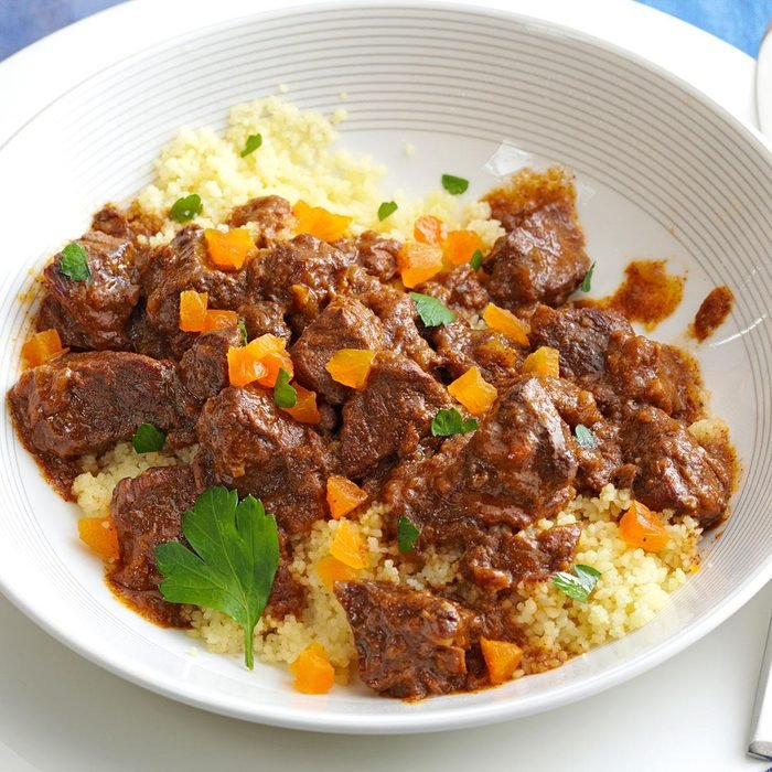 Spiced Lamb Stew with Apricots