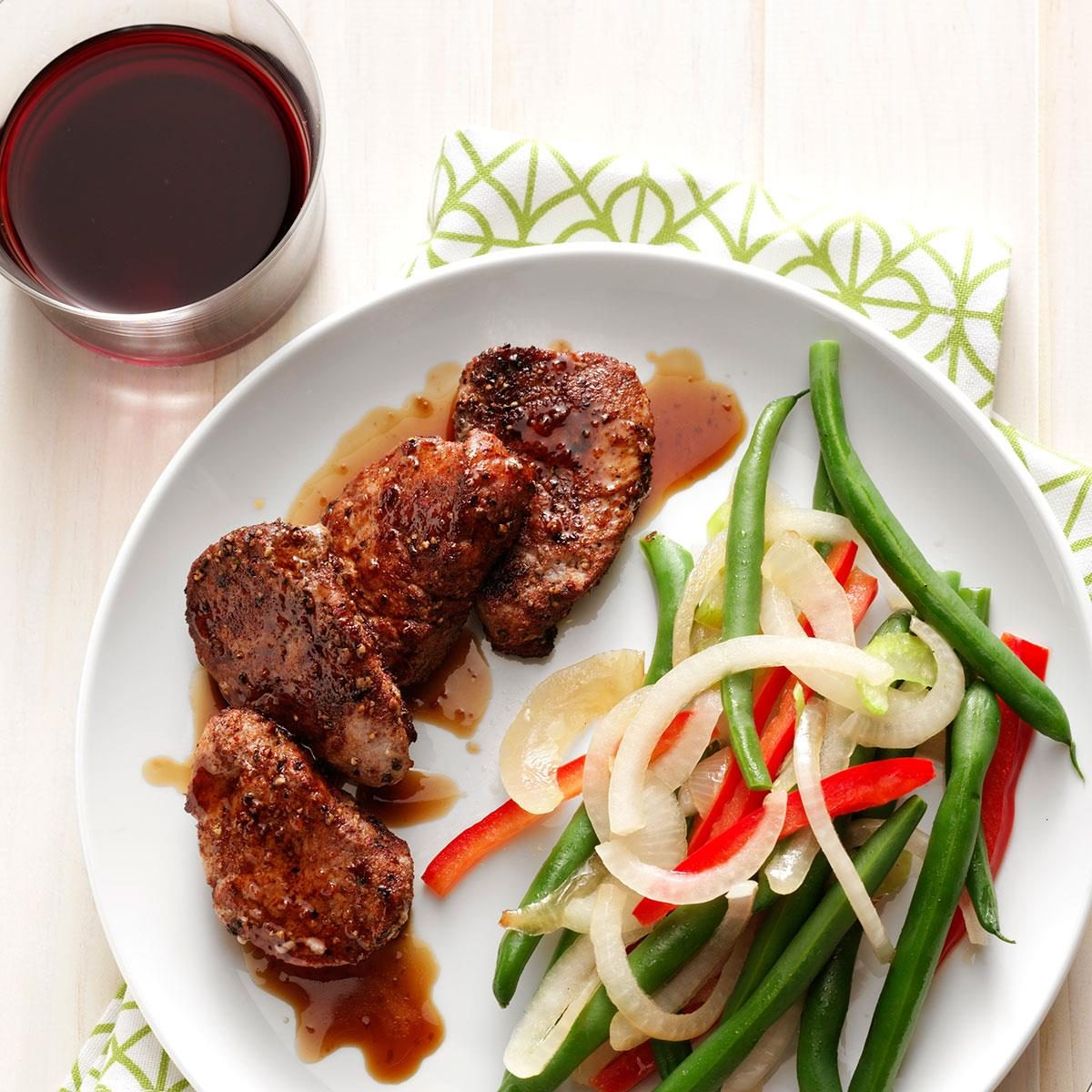 Spiced Pork Medallions With Bourbon Sauce Recipe How To Make It Taste Of Home