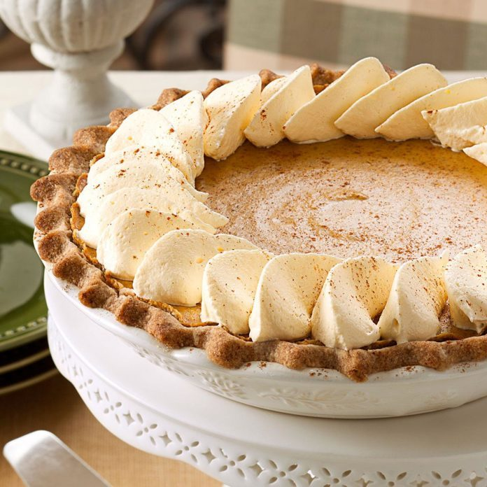 Spiced Pumpkin Custard Pie