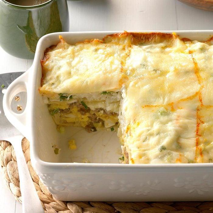 Spicy Breakfast Lasagna