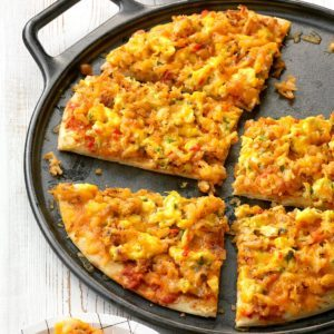 Spicy Breakfast Pizza