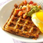 Spicy Hash Brown Waffles with Fried Eggs