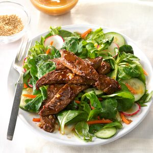 Spicy Mongolian Beef Salad