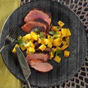 Spicy Pork Tenderloin with Mango Salsa