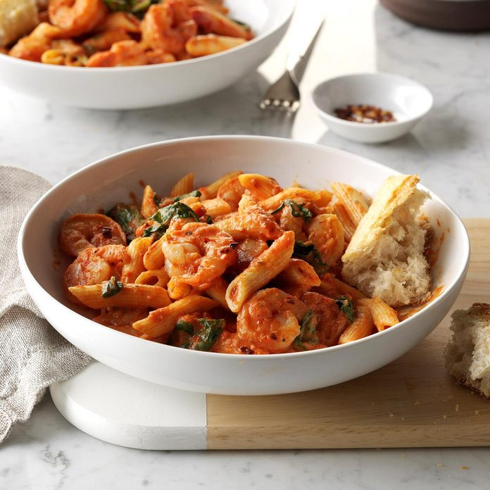 Maryland: Spicy Shrimp & Penne Pasta