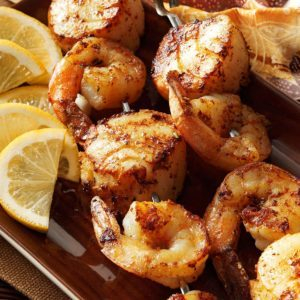 Spicy Shrimp 'n' Scallop Skewers
