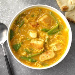 Spicy Thai Coconut Chicken Soup