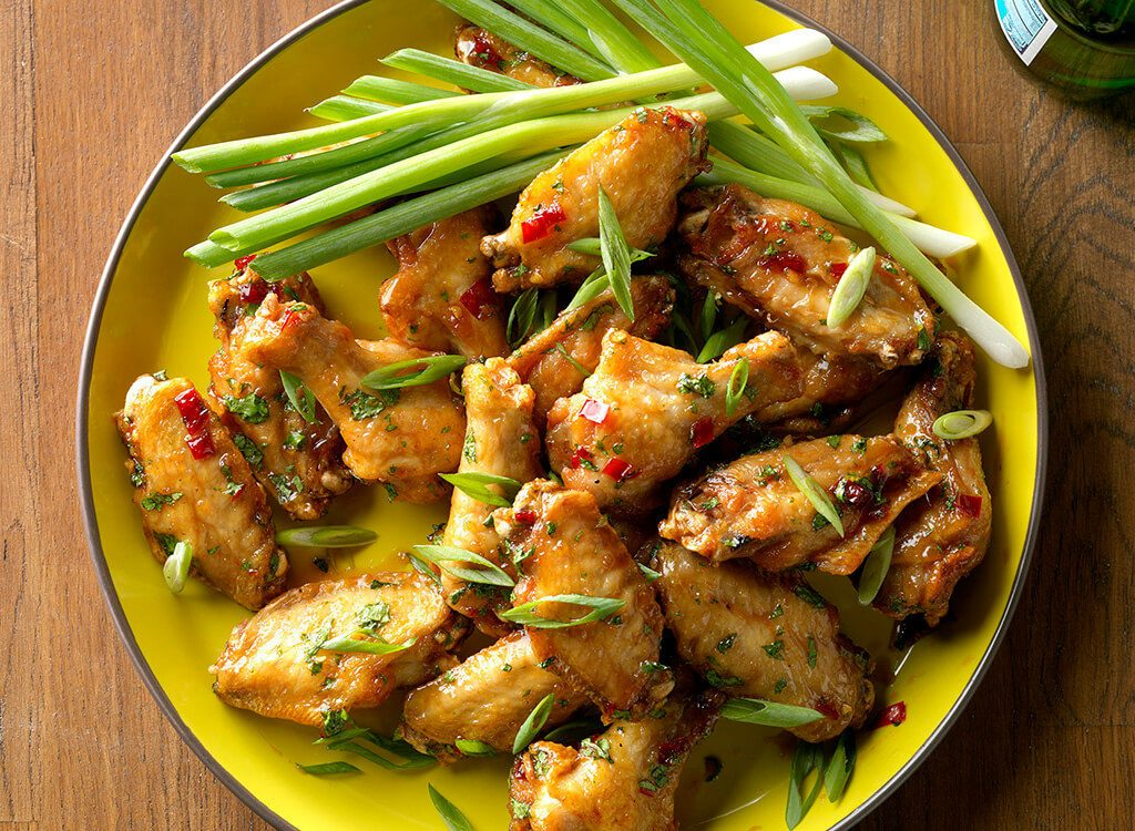 Spicy thai buffalo wings