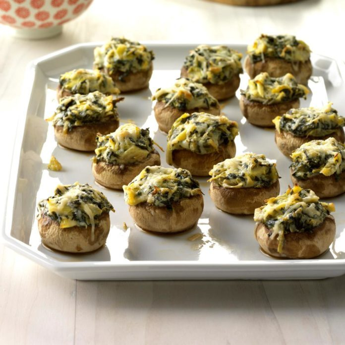 Spinach-Artichoke Stuffed Mushrooms