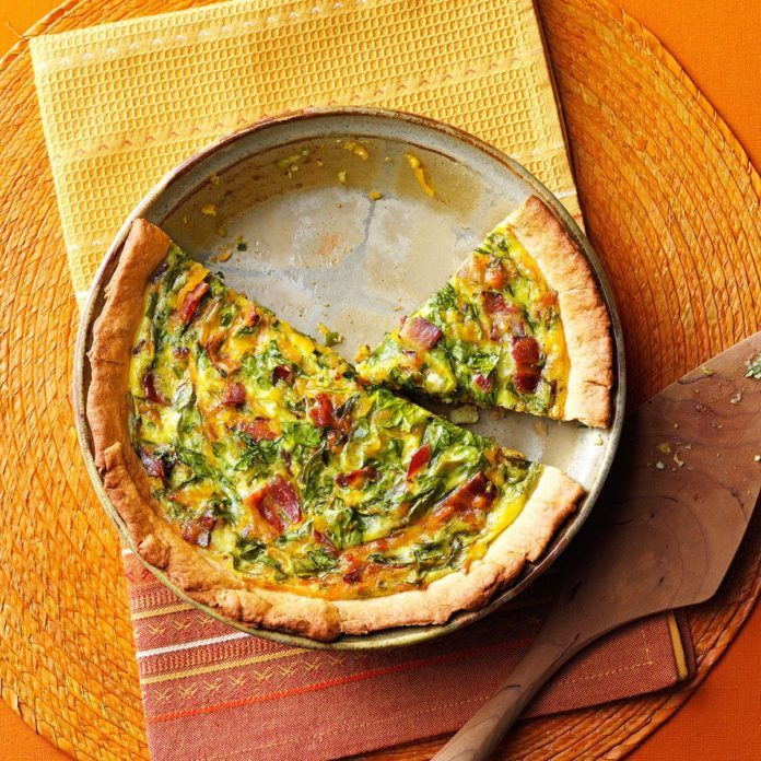 Spinach Bacon Brunch Pizza