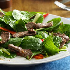 Thai Spinach Beef Salad
