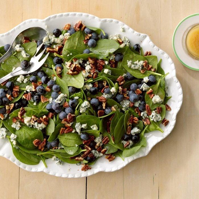 Summer vegetarian recipes - Spinach Blueberry Salad