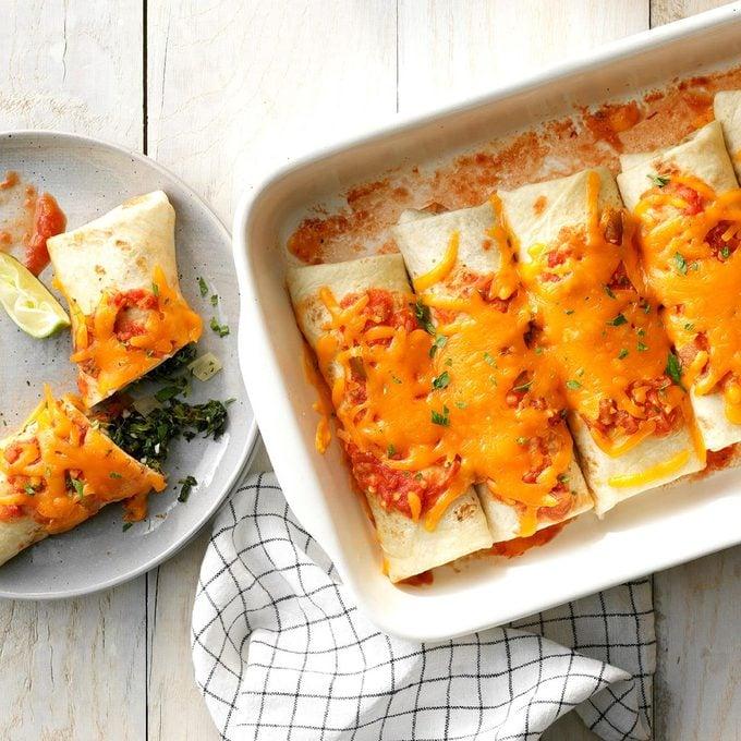 Spinach Burritos