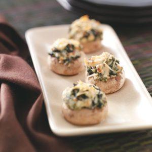 Spinach-Cheese Mushroom Caps